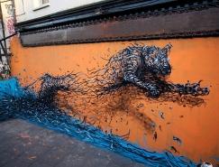 华裔艺术家DALeast令人惊叹的街头涂鸦艺术作品