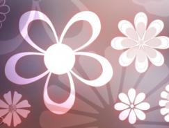 美丽的花朵PS形状
