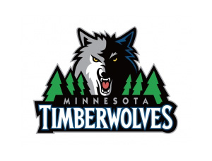 NBA:明尼苏达森林狼队标志矢量图