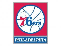 NBA:费城76人队标志矢量图