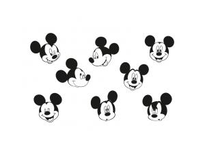 多种表情的米老鼠头像矢量素材