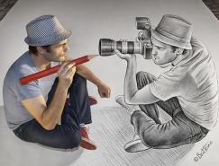 比利時藝術家Ben Heine驚人的3D鉛筆畫