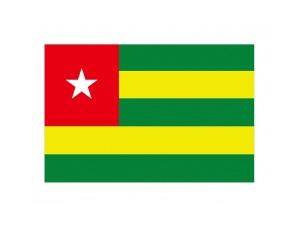 多哥國旗矢量圖