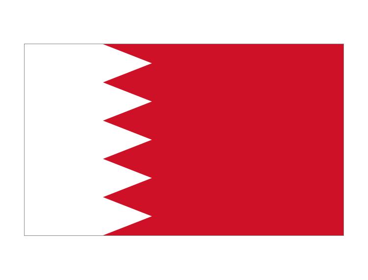 巴林國旗矢量圖
