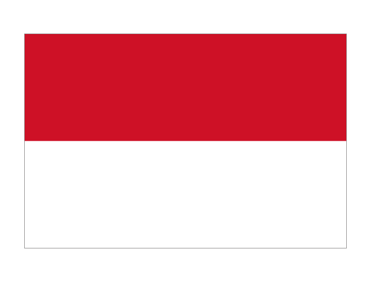 印度尼西亚国旗矢量图