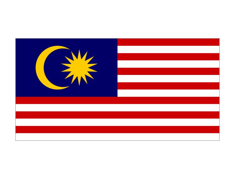 马来西亚国旗矢量图