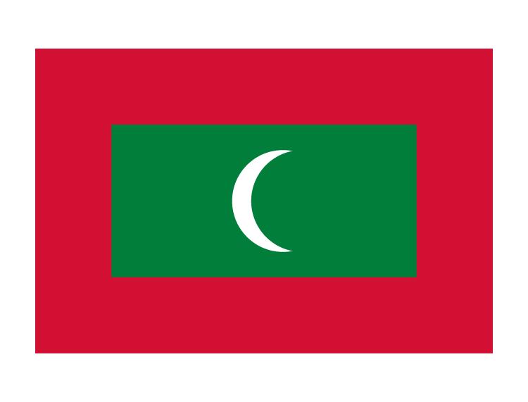 马尔代夫国旗矢量图