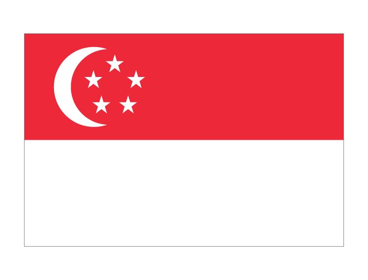 新加坡国旗矢量图