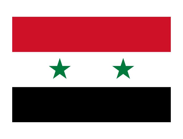 敘利亞國旗矢量圖