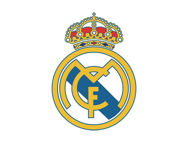 皇马球队标志_西甲皇家马德里队徽标志矢量图 - 设计之家