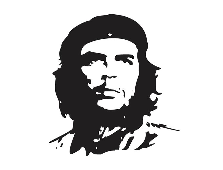 切·格瓦拉(che guevara)肖像矢量素材