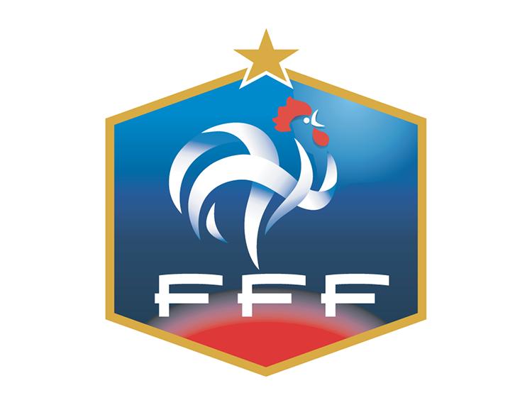 法国国家足球队队徽标志矢量图