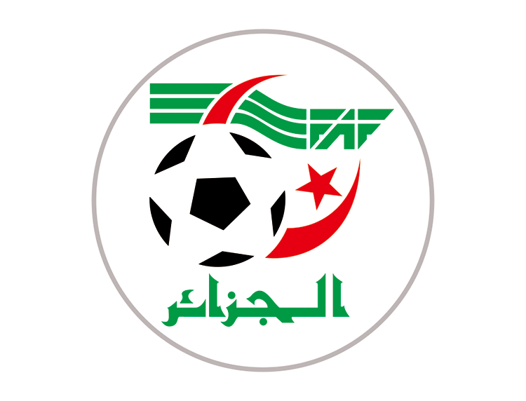 阿尔及利亚国家足球队队徽标志矢量图