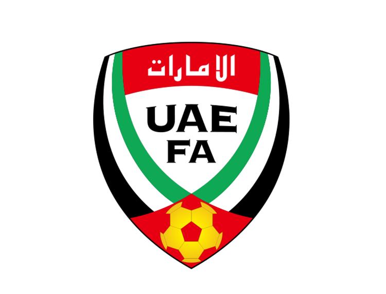 阿联酋国家足球队队徽标志矢量图