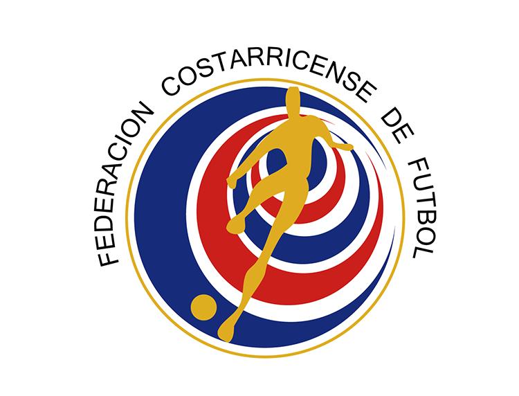 哥斯达黎加国家足球队队徽标志矢量图
