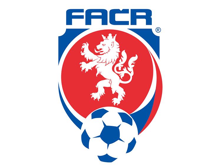 捷克国家足球队队徽标志矢量图