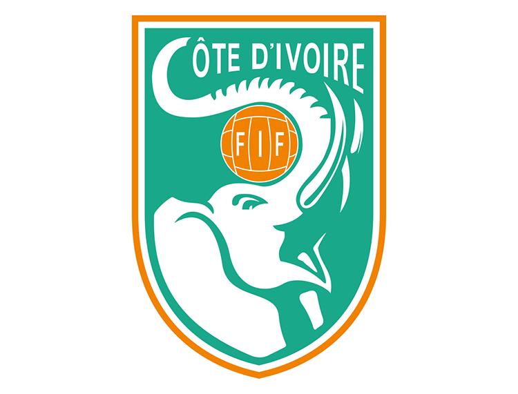 科特迪瓦国家足球队队徽标志矢量图