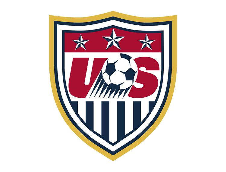 美国国家足球队队徽标志矢量图