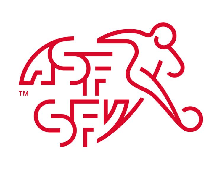 瑞士国家足球队队徽标志矢量图