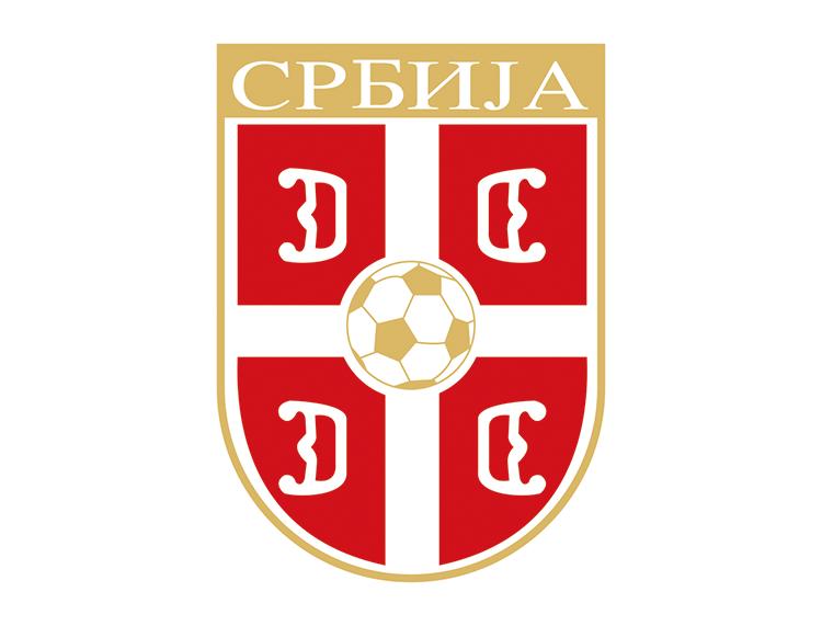 塞尔维亚国家足球队队徽标志矢量图
