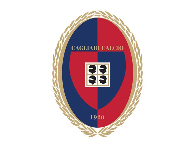 意甲卡利亚里队徽标志矢量图