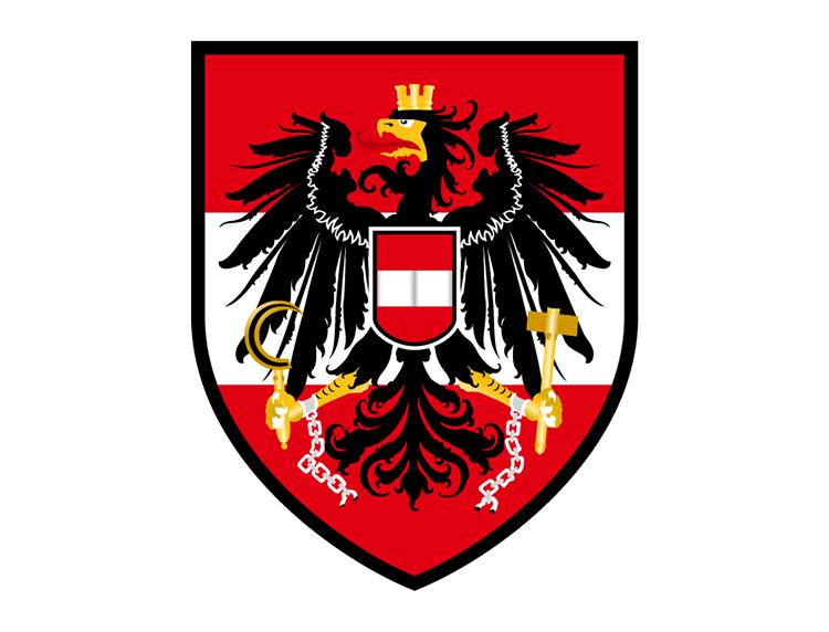 奥地利国家足球队队徽标志矢量图
