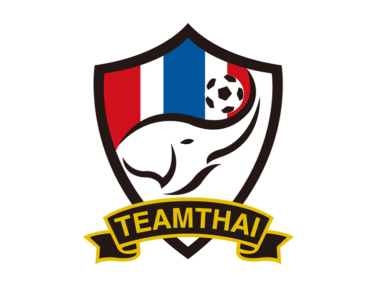 泰国国家足球队队徽标志矢量图