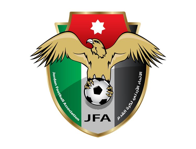 约旦国家足球队队徽标志矢量图