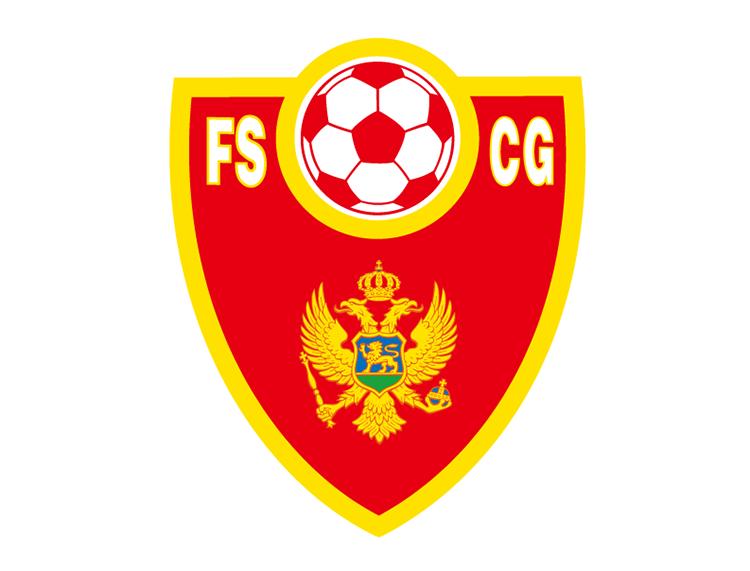 黑山国家足球队队徽标志矢量图