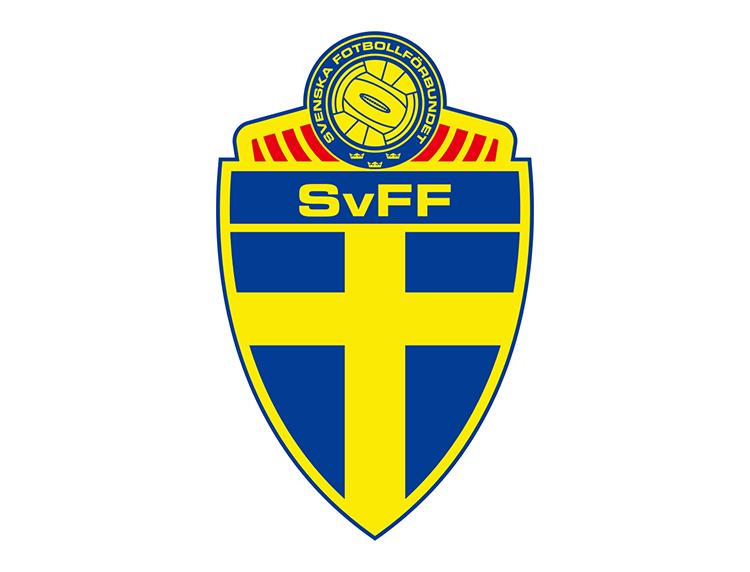 瑞典国家足球队队徽标志矢量图图片
