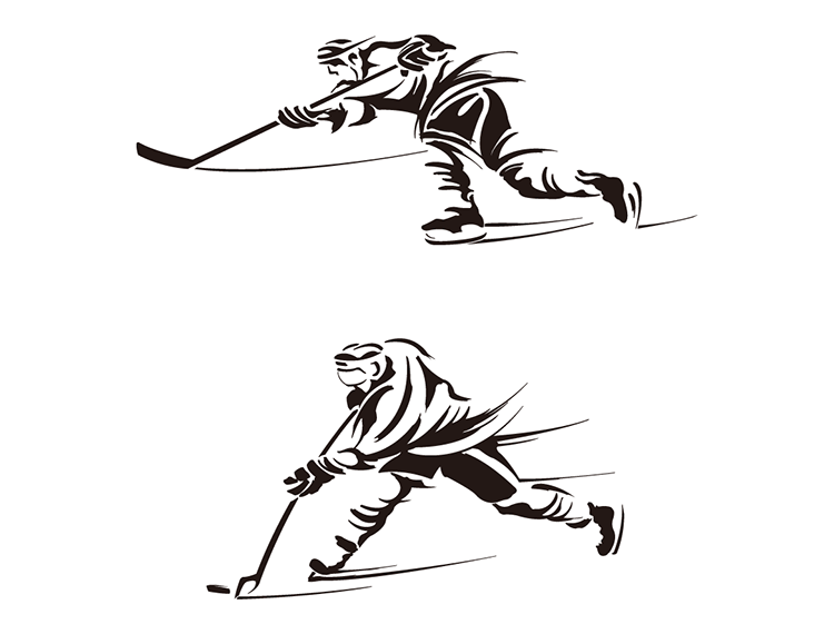 冰球运动员矢量素材
