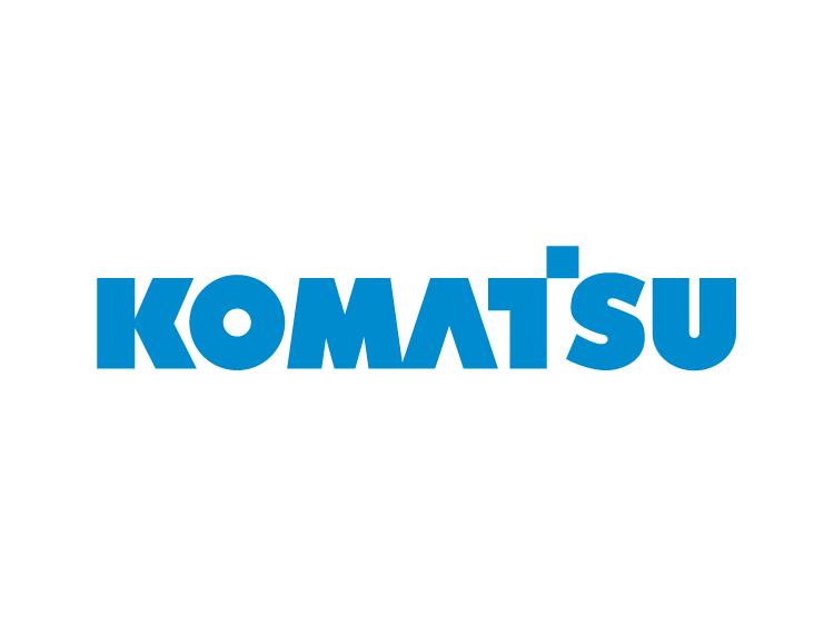 挖掘机品牌 Komatsu小松标志矢量图