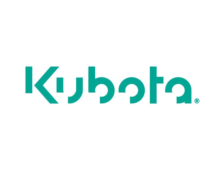 挖掘机品牌 Kubota久保田标志矢量图