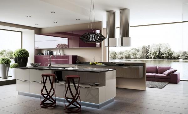 豪华气派的现代厨房装修欣赏图片
