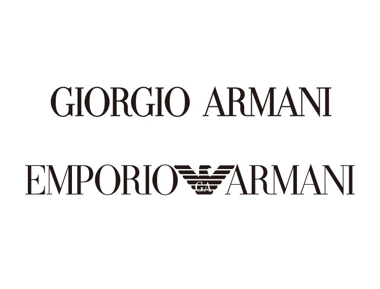 奢侈品牌阿玛尼 Giorgio Armani 标志矢量图图片
