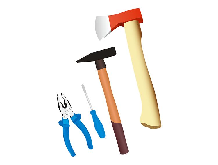 家用五金工具矢量素材