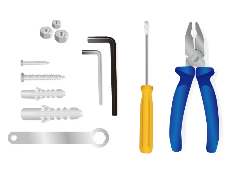 素材 家用/EPS格式,五金工具,家用工具,老虎钳,螺丝刀,螺母,螺丝,膨胀螺丝,...