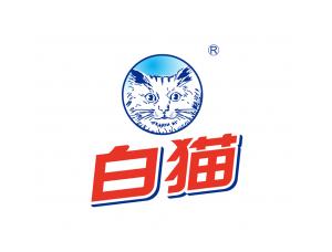 日化品牌:白猫logo标志矢量图