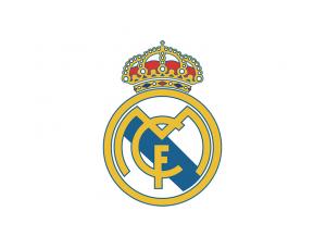 西甲皇家马德里队徽标志矢量图