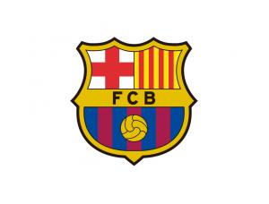 西甲巴塞罗那队徽标志矢量图