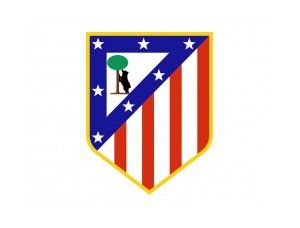 西甲马德里竞技队徽标志矢量图