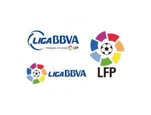 西班牙足球甲级联赛标志矢量图