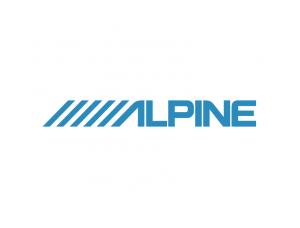 阿爾派(alpine)汽車音響logo標志矢量圖