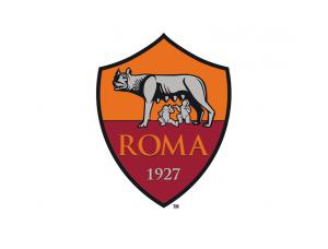 意甲罗马队徽标志矢量图