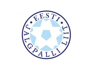 爱沙尼亚国家足球队队徽标志矢量图
