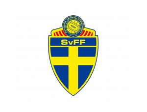 瑞典國家足球隊隊徽標志矢量圖