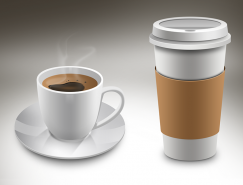 咖啡杯PSD素材