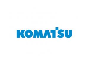 挖掘机品牌:Komatsu小松标志矢量图