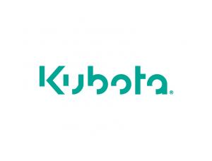 挖掘机品牌:Kubota久保田标志矢量图