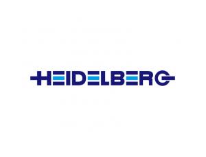 印刷机品牌:海德堡Heidelberg标志矢量图